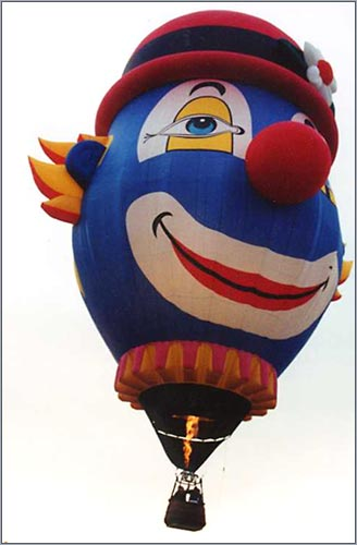 The Clown Balloon Flying Solo.
